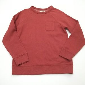 Obey Rust Crew Neck Sweatshirt w Pocket Size Small